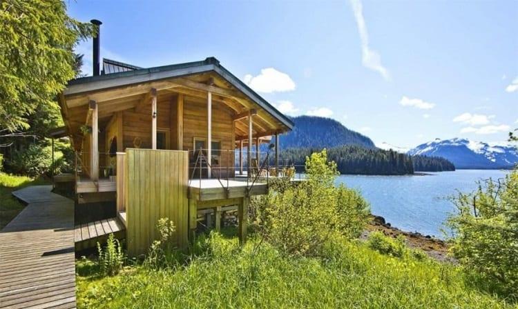 Wooden Cabin In Alaska