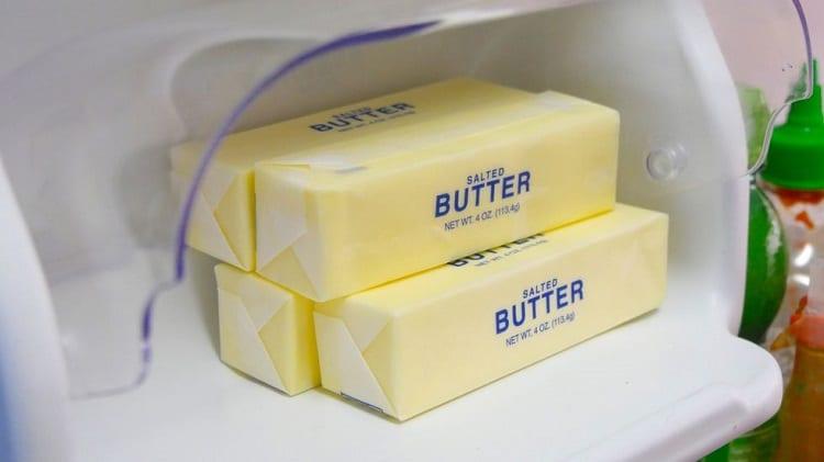 4 Packs Of Butter In Fridge
