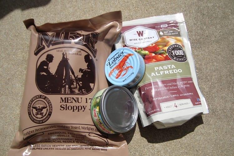 Bug Out Bag Food Supplies