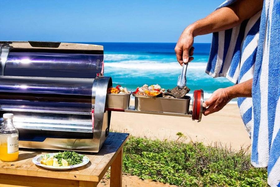 preparing food in solar oven