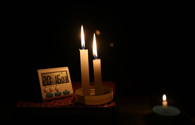 candles and clock