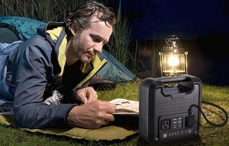 man listening emergency radio