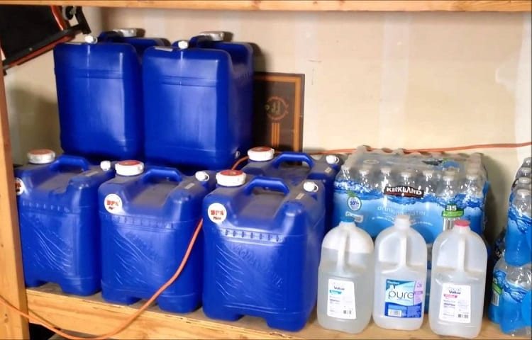 stored water